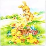 Maki ペーパーナプキン <ウサギ×ヒヨコ>