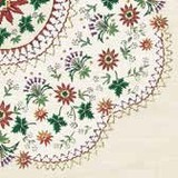 Paper Napkin Flower Embroidery