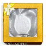 【販促パッケージ・タグ】ブレスレットケース(紙) 黄 (10個セット)【天然石 パワーストーン】