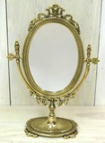 Italy Brass Oval Stand Alone Mirror