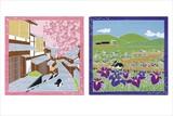 【インテリア雑貨】 <たまのお散歩> タペストリーになる小風呂敷 (和柄/ネコ柄)【四季12柄展開】