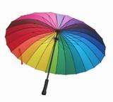 24本骨傘★晴雨兼用★和傘 番傘 日傘 雨傘アンブレラ 男女兼用傘 長傘、ニジ模様 ユニセックス