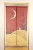 【和風のれん】四季のれん:四季の月の柄