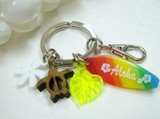 Original Hawaiian Motif Rainbow Key Ring