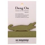 【キーボードのすき間に立てる伝言メモ】Deng On(ワニ) 20枚綴り