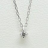 《超》シンプルダイヤモンドネックレス
