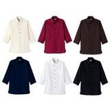 シックなカラー展開!吸汗即乾ハニカム7分袖 和シャツ(ユニセックス)7サイズ・6色
