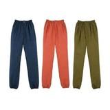 裾ゴム入り 無地むら和パンツ/7サイズ・3色