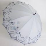 【晴雨兼用】中棒スライドショート12間傘★ T/C 多色刺繍傘