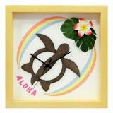 ハワイアンにおすすめ!小さめサイズのインテリア時計♪DECLOCK/Hawaiian Clock Honu/Rainbow