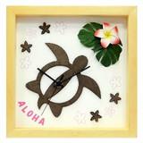 ハワイアンにおすすめ!小さめサイズのインテリア時計♪DECLOCK/Hawaiian Clock Honu/Flower