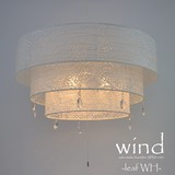 【日本製和紙照明】美濃手漉き和紙 シャンデリア風和風ペンダントライト SPN3-1091 wind ラージサイズ