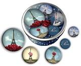 レ ケーク ド ベルトラン LES CAKES DE BERTRAND PARIS LaBoitede5Badges 缶バッチ5個セット 収納缶付き