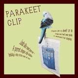 インコのカードクリップ【PARAKEET CLIP】パラキート クリップ * 動物 ガーデン リアルアニマルズ
