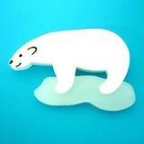 流氷ハンター白くまくんバッジ:unpetit(アンペティット)