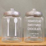 【ガラス容器】<カフェ風>モチーフ入りガラスジャー各種