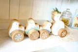 【木製玩具】可愛いおさんぽアヒル
