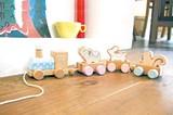 【木製玩具】愉快なアニマルトレイン