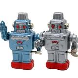 【ブリキのおもちゃ】『ゼンマイ ロボット』<ブルー/シルバー>