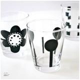 《ハニーライフ&モダンライフ グラス(マットブラック)》手にフィットする小さなグラス♪【6柄展開】