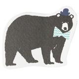 【着飾ったアニマルが可愛いカード】ミニカード<クマ>