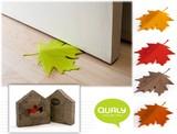 <落ち葉型のドアストッパー>【QUALY】オータムドアストッパー