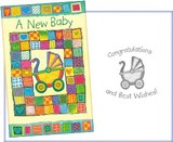 Greeting Card Birth Baby Patchwork