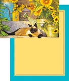 Greeting Card Cat Sunflower