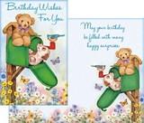 Stockwell Greetings グリーティングカード バースデー <犬・クマ・ポスト>