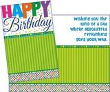 Stockwell Greetings グリーティングカード バースデー <メッセージ×ストライプ>