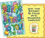 Stockwell Greetings グリーティングカード バースデー <風船×ケーキ>