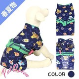 Pet S/S Dog Wear Jinbei Matsuri Navy for Dog Pet Queen