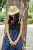 【値下げ!】【crowny】ヘアバンド付き中折れハット<3color・日本製・UV対策・ガーリー・ペーパー/天然>