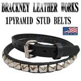 BRACKNEY LEATHER WORKS 1 PYRAMID  STUD  LEATHER BELT 13668