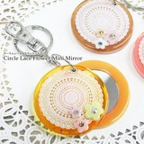 Circle Lace Flower Mirror Ride Mirror Miscellaneous goods