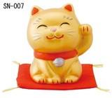 「心を癒す置物とインテリア」 縁起の置物 【幸せ招き猫 金(特小)】