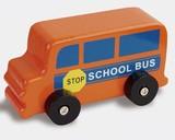 ♪天然素材♪ ウッデントイ スクールバス ☆Wooden toy☆木製玩具☆木のおもちゃ