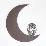 ◆【インテリア・ウォールデコ】OWL on ムーン ウォールデコ+鳥