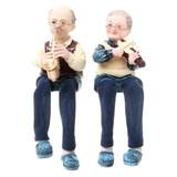 おじいちゃん&おばあちゃん人形(サックス&バイオリン)