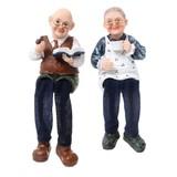 おじいちゃん&おばあちゃん人形(読書&コーヒー)