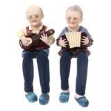 おじいちゃん&おばあちゃん人形(ウクレレ&アコーディオン)