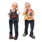 おじいちゃん&おばあちゃん人形(電話)