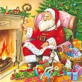 Paper Napkin Christmas Santa Present
