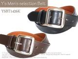 メンズ カジュアル ビジネス ベルト 紳士ベルト 牛革(一部)ベルト ♪全長ロング♪ 全長120cm★YSBT1426K