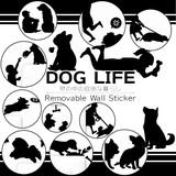 【ウォールステッカー/インテリア】Wall Story DOG LIFE/おしゃれ/イヌ/ステッカー/壁紙
