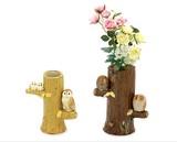 【SALE】【インテリア雑貨】【ギフト】メルヘンとまり木の福朗 花器【小/大】<ふくろう置物>