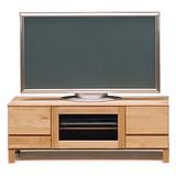 [直送可][日本製][アルダー材] リビング TVボード(脚) 幅112cm