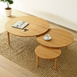 [直送可][日本製][アルダー材] 3枚テーブル 幅90cm