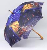【お仕入れ10000円で送料無料♪♪】【ジャンプ傘】ゴッホ ナイトカフェ