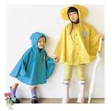 【全3色☆】SMALLYレインポンチョ/子供用S/M/Lサイズ90cm-130cm